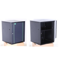 BNET Wall Cabinet 15U 600 x 800 with 2 Fan, 1 Fixed Shelf, Bracket Set, Black 9005