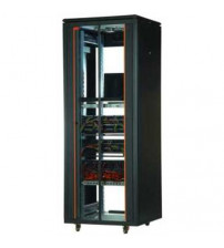 CABINET 26 U 19'' 600x1000 Free Standing Ral 9005 Black incl 2 Fan Tray - CKR26U6100