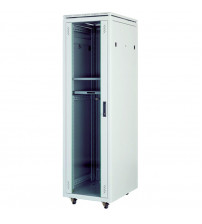 CABINET 36 U 19  600x1000 Free Standing cabinet Ral 9005 Black incl 4 Fan Tray and castor - CKR36U6100