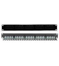 BNET 25 PORT VOICE PATCH PANEL 19''/1U BLACK WITH 25x RJ45 JACKS CAT 3 IDC TERMINATION