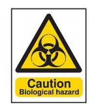 Hazard Warning Sign - Caution Biological hazard
