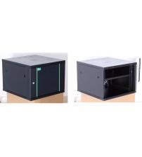 BNET Wall Cabinet 9U 600x600 with 1 Fan, 1 Fixed Shelf, Black 9005