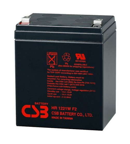 12v 5ah Battery >> Hr1221w Csb Vrla Battery 12v 5ah