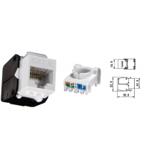BNET CAT 6 UTP RJ45 TOOL-LESS KEYSTONE JACK/MODULE UNSHIELDED WHITE
