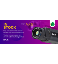 FLIR  A315  Thermal Imaging Camera  320 x 240 pixel microbolometer that detects temperature differences as small as 50 mK, for accuracy at longer distances