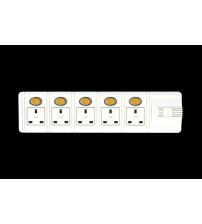 EXT.SKT.6 Way with switch UK Socket 5 mtrs UK Plug