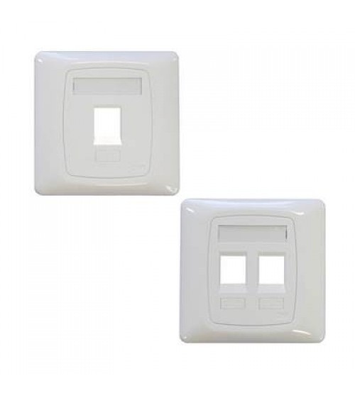 FACE PLATE WHITE FOR 1 PORT (CAT6 & CAT6A)