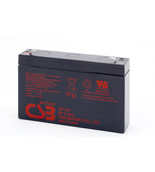 GP672 / CSB VRLA Battery 6V 7.2AH