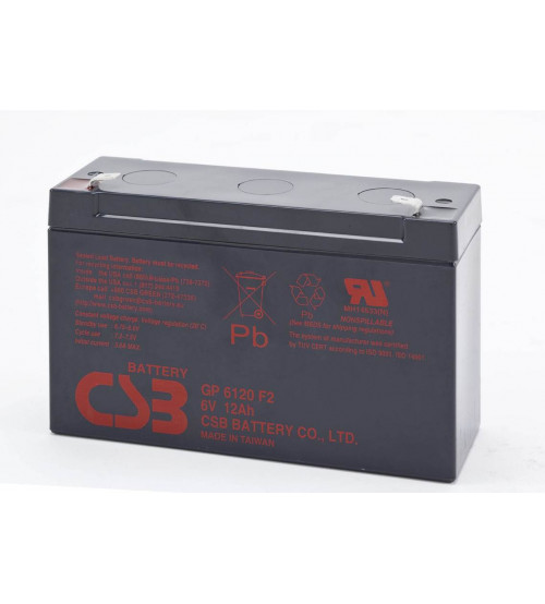 GP612 / CSB VRLA Battery 6V 12AH
