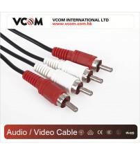 VCOM 2RCA M to 2RCA M Cable (CV022) - 1.8m
