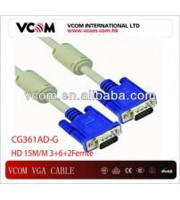 VCOM 3+6+2Ferrite 15 M/M HD VGA Cable