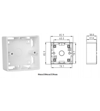 BNET SURFACE MOUNT PLASTIC BACK BOX WHITE FOR BRITISH STANDARD FACEPLATES