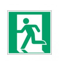 ISO Safety Sign - Emergency exit (left)