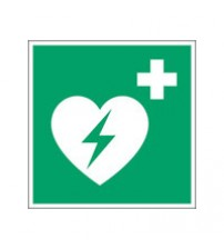 ISO Safety Sign - Automated external heart defibrillator