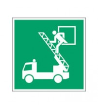 ISO Safety Sign - Rescue window