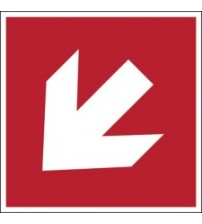 ISO Safety Sign - Direction arrow 45° (90° increments), safe condition