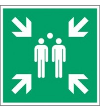 ISO Safety Sign - Evacuation assembly point